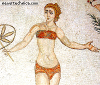Mosaik in der Villa del Casale in Piazza Armerina, Sizilien