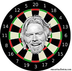 Richard Branson dartboard