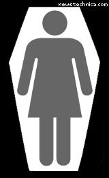 Generic woman in generic coffin