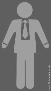 Generic toilet businessman symbol