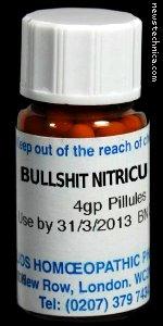 Homeopathic Bullshit Nitricu 30C