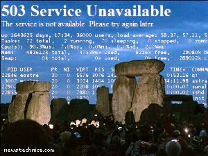 Stonehenge slashdotted at dawn