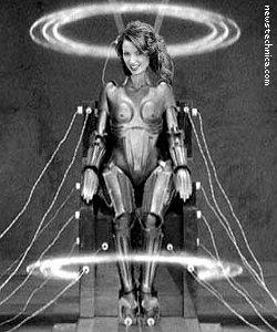 Dannii Minogue in wired-up robot form