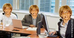 Microsoft altered head photo