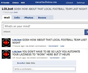Automated robot Facebook browser