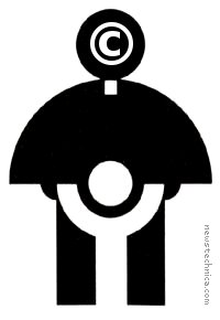 Copyright Catholic priest child logo