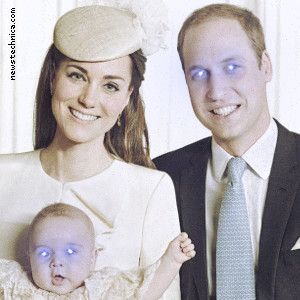 Official Christening portrait of Prince George, with halo
