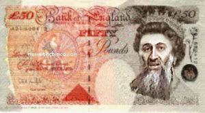 Osama bin Windsor-Mountbatten on the fifty pound note