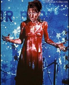 Sarah Palin as Carrie at the Republican Prom