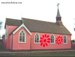 Pink church in Hassall Green