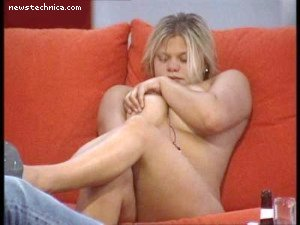 Jade Goody naked on Big Brother