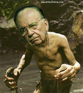 Rupert Murdoch as Gollum