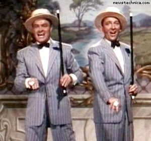 "Bob Hope and Bing Crosby in ""Road to Bali"""