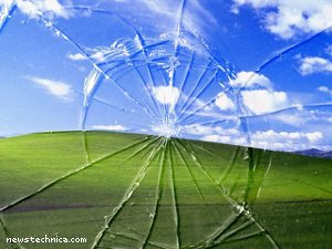 Broken Windows XP background
