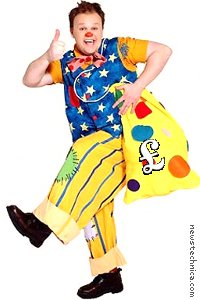 Mr Tumble with swag